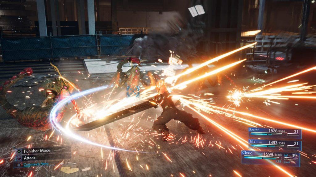 Batalha - Final Fantasy VII Remake