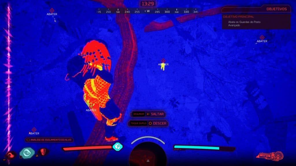 Imagem aérea do jogo