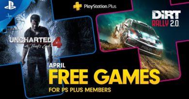 PS Plus de Abril - Uncharted 4: A Thief's End e DiRT Rally 2.0