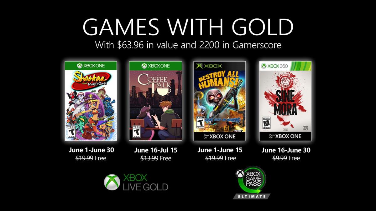 Jogos: Lineup do Games with Gold de junho é revelada