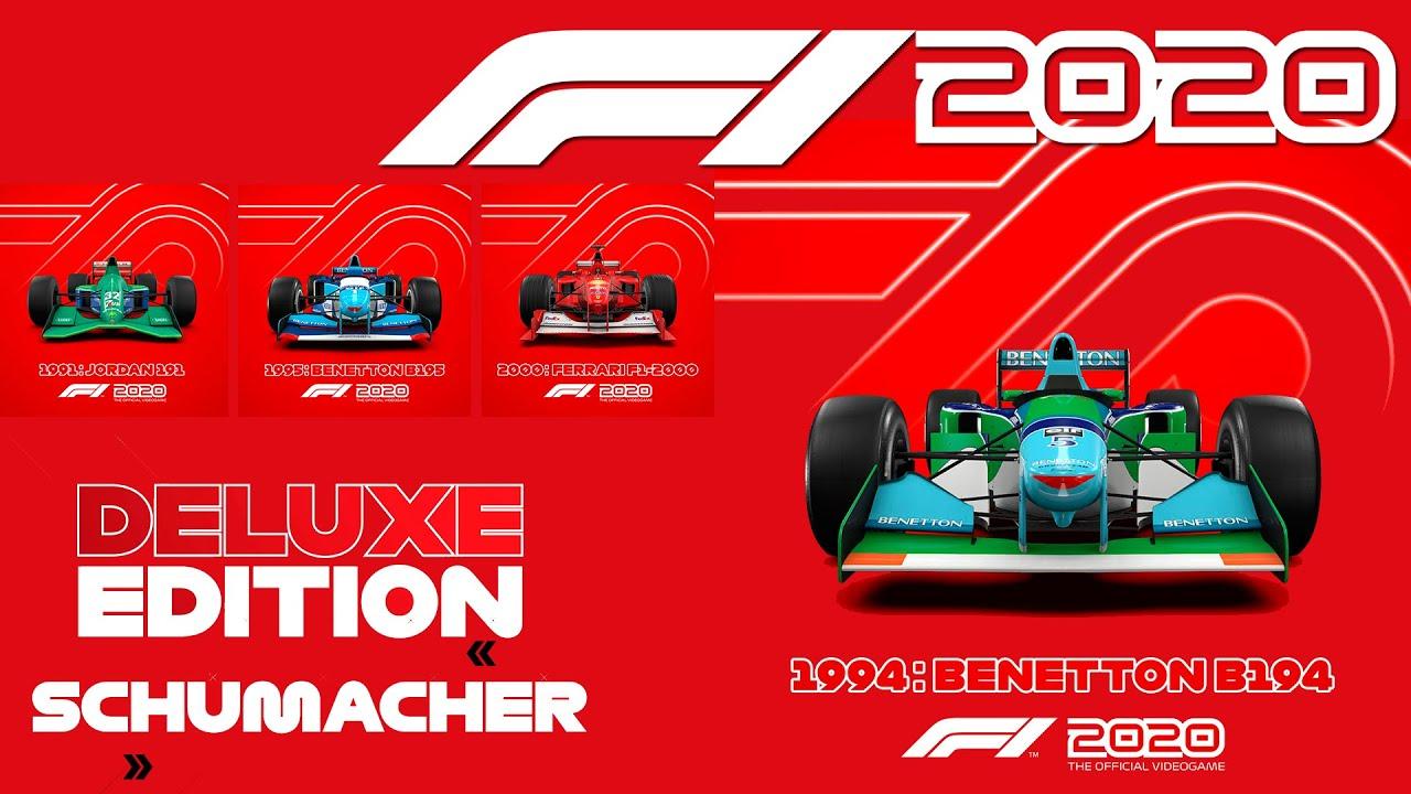 Jogos: F1 2020 anuncia os carros da Deluxe Schumacher Edition