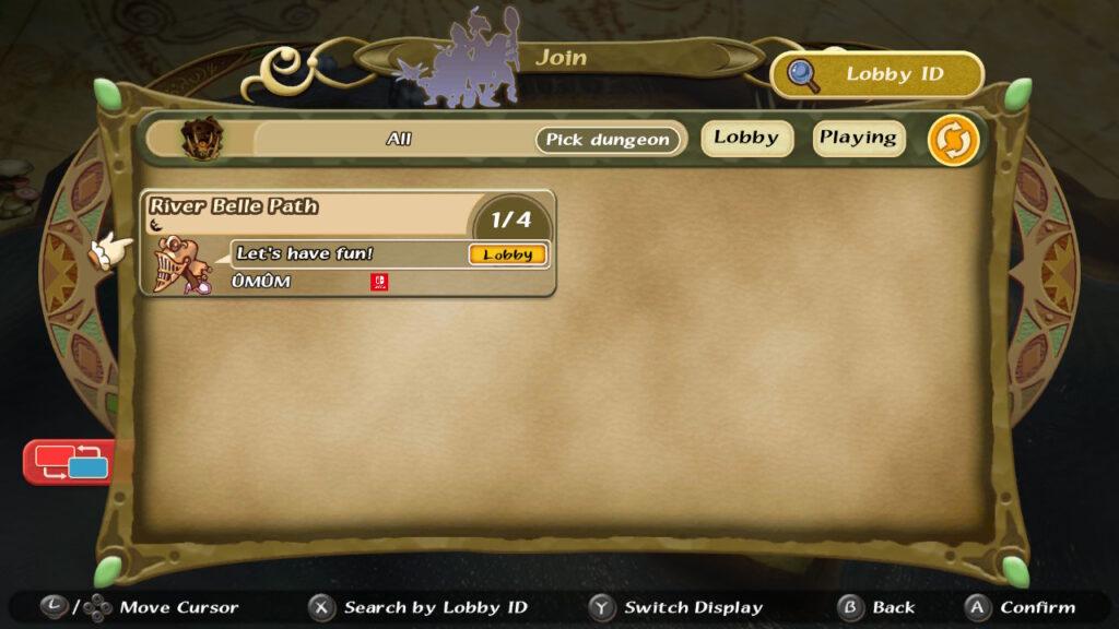 Para aceitar o convite multijogador, foi preciso acessar o menu de lobby, já que a opção direta não funcionava. (Imagem: Reprodução.)