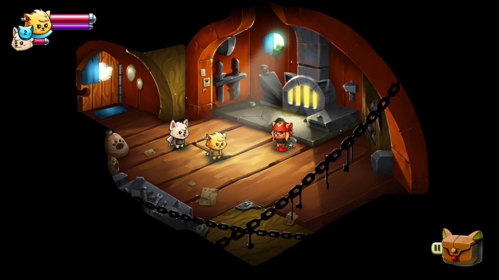 Prepare-se para uma jornada de trocadilhos, como o nome da ferreira Kit Cat. (Imagem: Divulgação.)