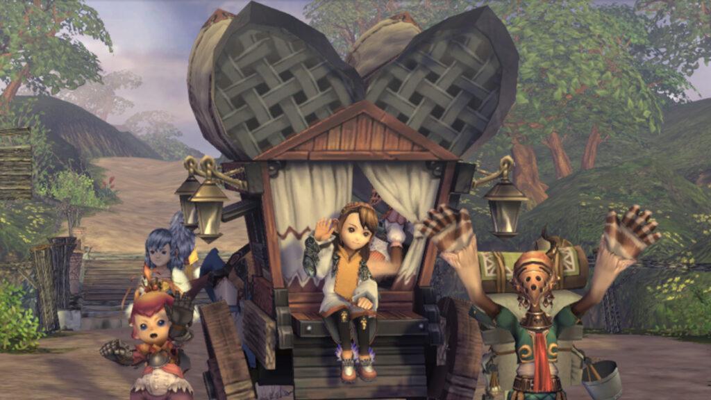 Final Fantasy Crystal Chronicles Remastered Edition permite cross-play para se aventurar com até mais três amigos. (Imagem: Divulgação.)