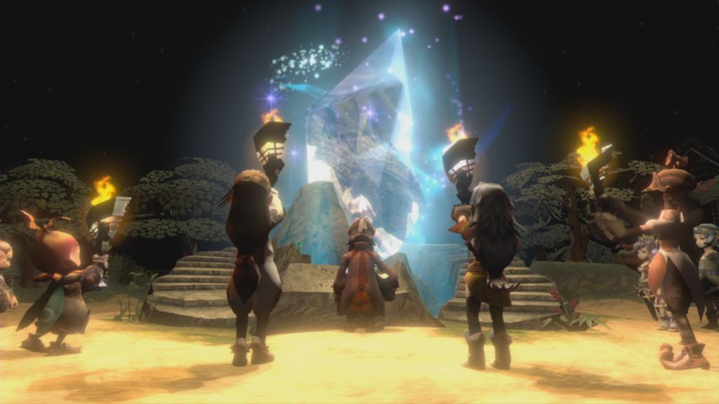 Escolha uma de quatro raças para sua caravana em busca de manter o cristal ativo em Final Fantasy Crystal Chronicles Remastered Edition. (Imagem: Divulgação.)