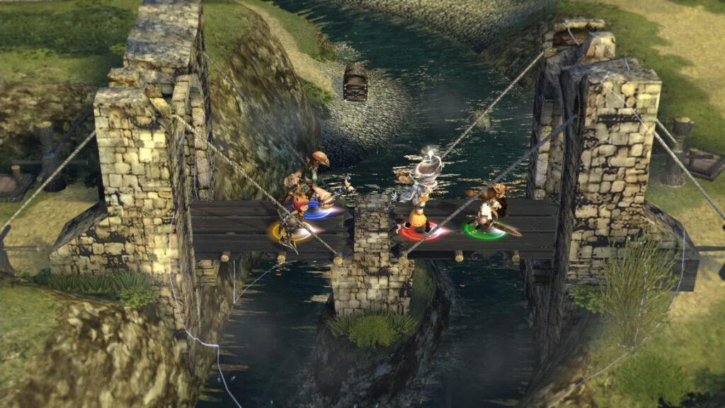 Final Fantasy Crystal Chronicles Remastered Edition obriga jogadores a andarem próximos uns dos outros e a cooperarem para superar obstáculos. (Imagem: Divulgação).