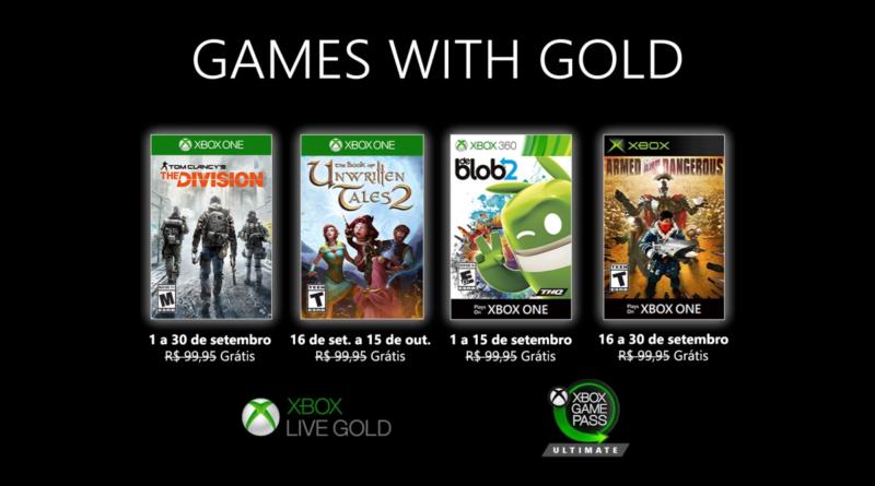 Esteja atento às datas para resgatar os Games with Gold de setembro. (Imagem: Divulgação)