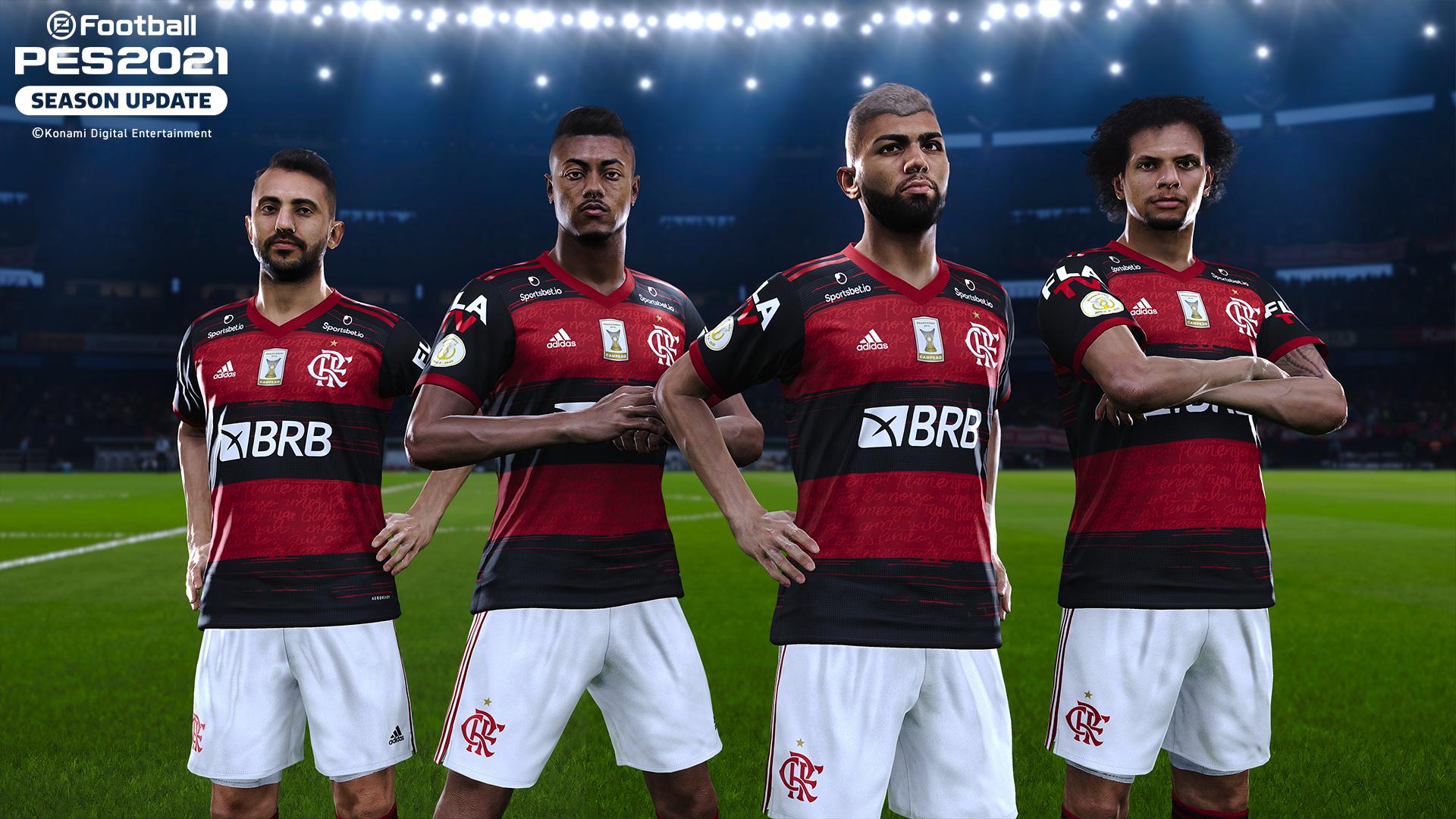 Jogos: eFootball PES 2021 revela parceria com o Flamengo