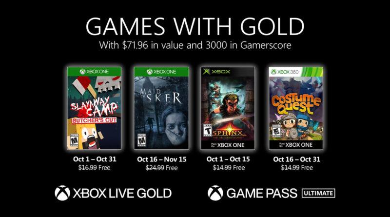 Esteja atento às datas de cada jogo no Games with Gold de outubro. (Imagem: Divulgação)