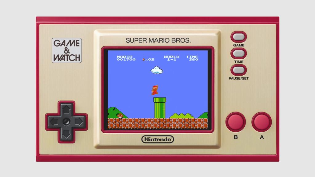Para comemorar 35 anos de Mario, a Nintendo lançará o sistema Game & Watch Super Mario Bros. (Imagem: Divulgação)