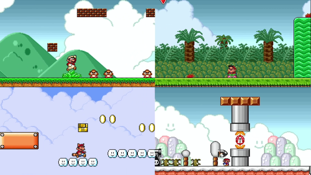 O primeiro Super Mario All-Stars recebeu uma atualização visual e pode ser baixada gratuitamente para assinantes NSO. (Imagem: Divulgação)