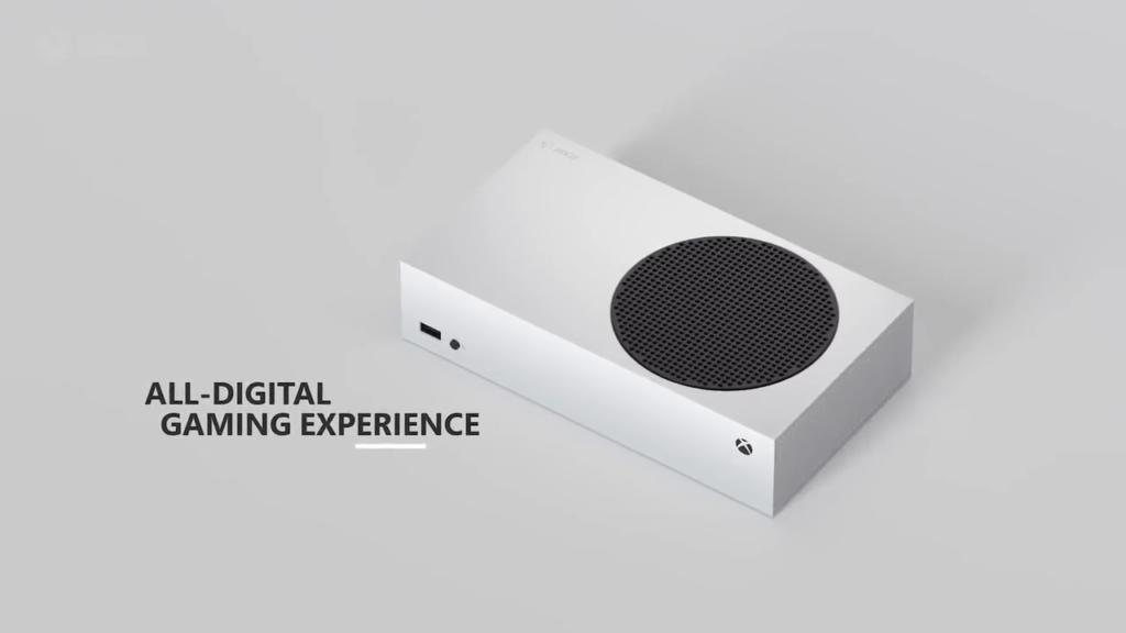 Xbox Series S não tem leitor e todo seu conteúdo é digital. (Imagem: Reprodução)