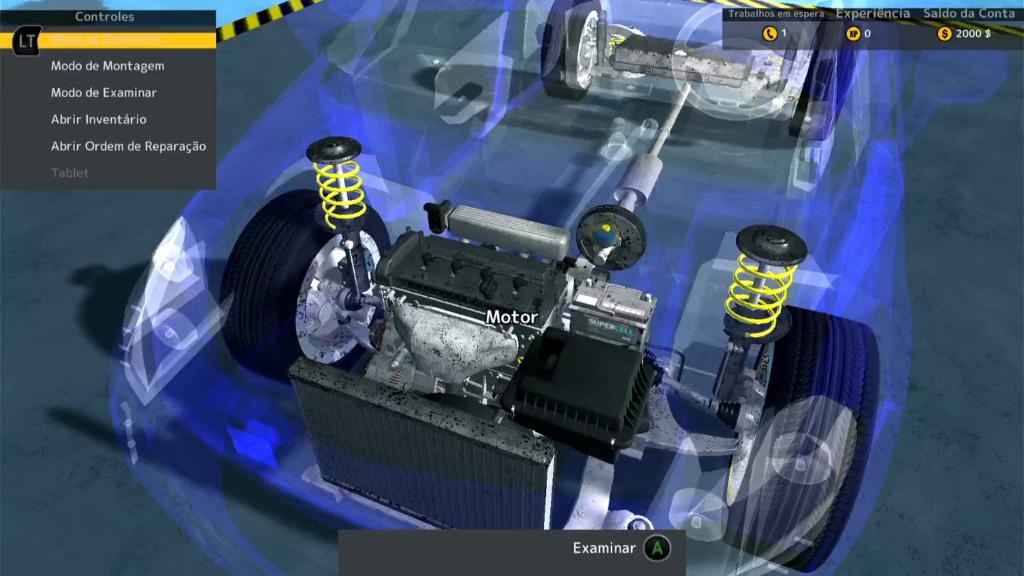 O jogador assume o papel de mecânico em Car Mechanic Simulator Classic. (Imagem: Divulgação)