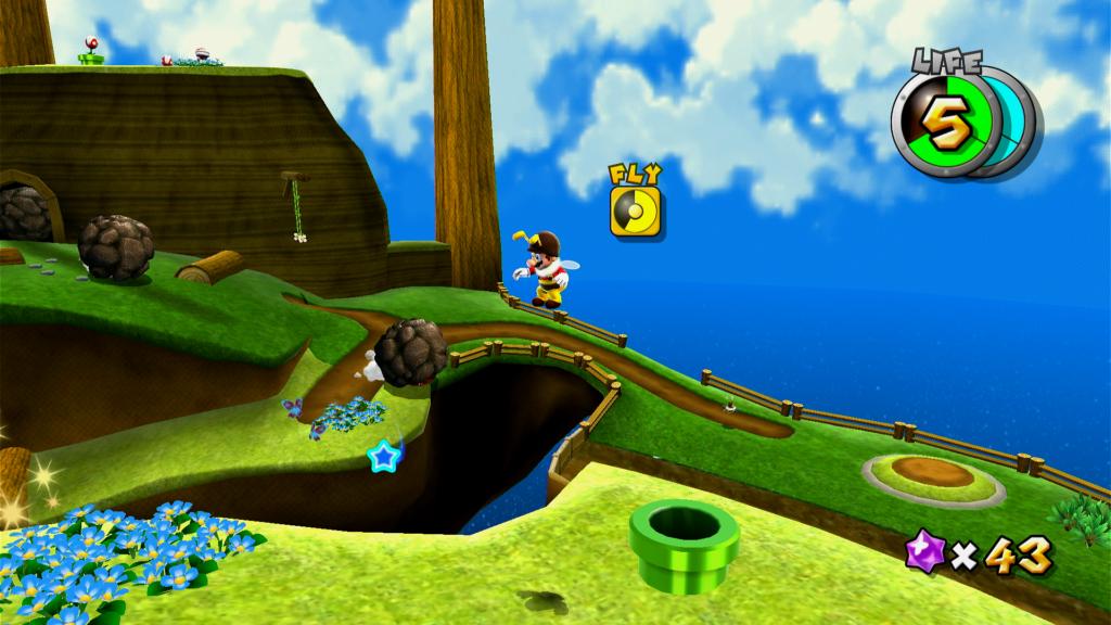 Administre o vigor para poder voar e alcançar objetivos com o poder de abelha. Não caia na água! (Imagem: Reprodução)