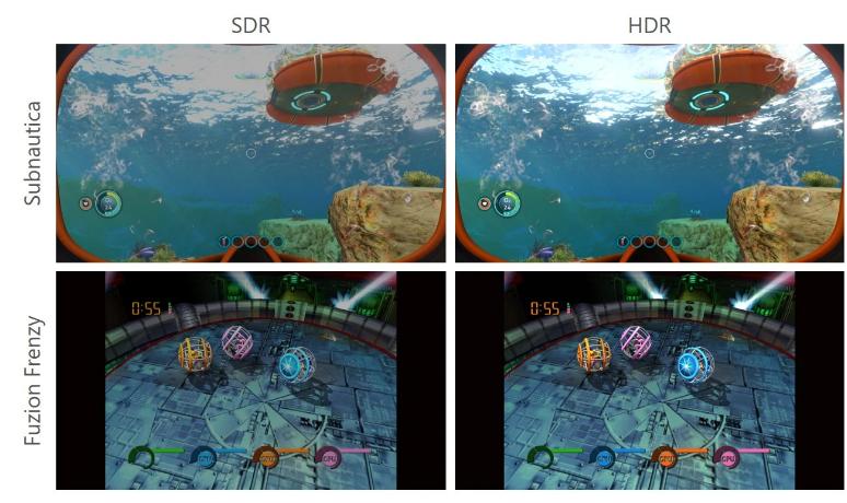 Comparativo com resultado do recurso Auto HDR da retrocompatibilidade no Xbox Series X e S. (Imagem: Divulgação)