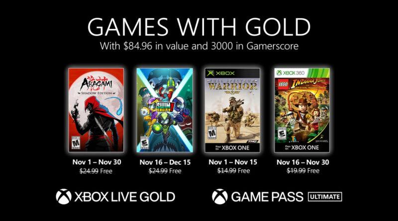 A partir de novembro, será possível jogar os Games with Gold nos novos consoles Xbox Series X|S. (Imagem: Divulgação)
