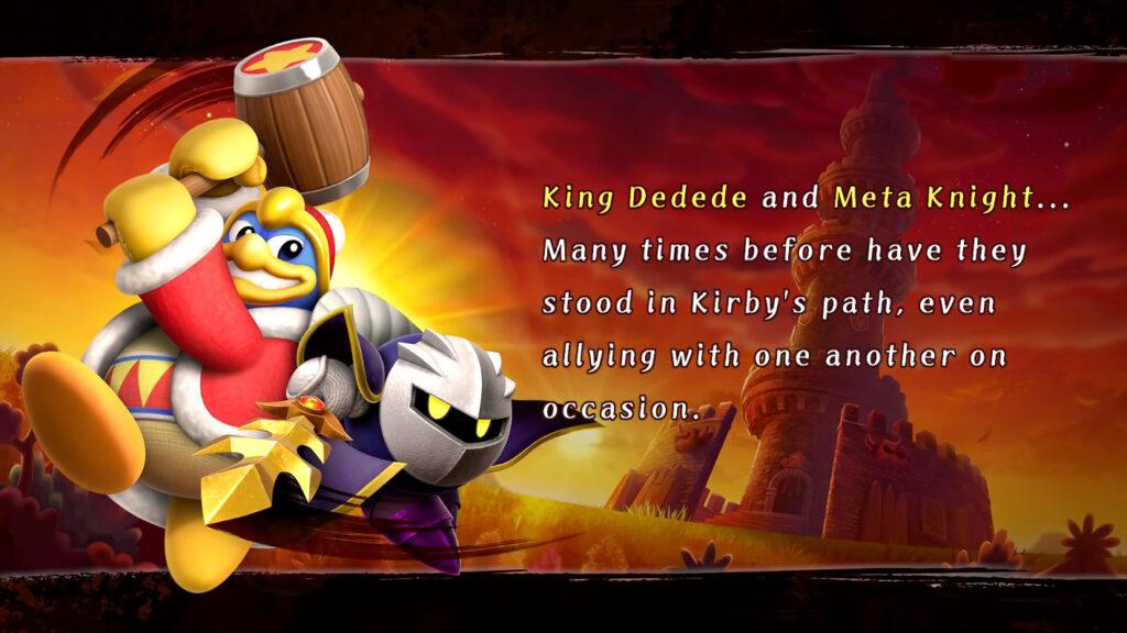 A história de Kirby Fighters 2 é bobinha, mas o combate único em modo cooperativo deixa o jogo divertido. (Imagem: Reprodução)