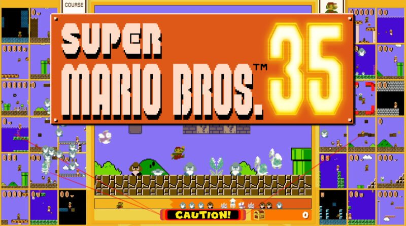 Enfrente outros 34 jogadores em um battle royale com Super Mario Bros. 35. (Imagem: Divulgação)