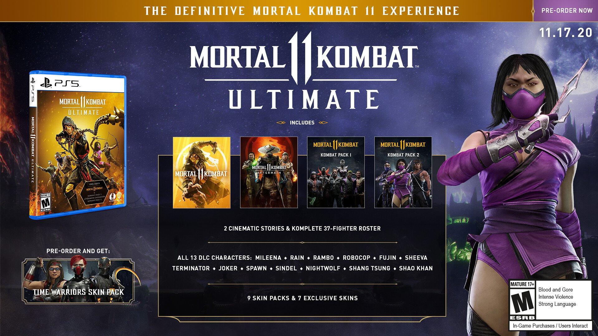 Jogos: Mortal Kombat 11 Ultimate e Rambo são anunciados em trailer