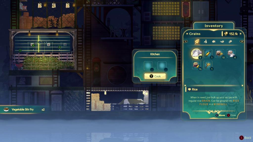 Ao ligar um segundo controle, um jogador assume o papel de Daffodil, o gato, e acelera a produção. (Imagem: Reprodução)