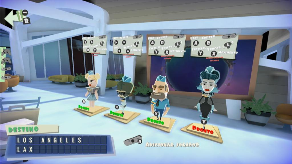 Infelizmente, a interface de Shakes on a Plane é uma das piores que vi desde os tempos de Nintendo 64 e de PlayStation. (Imagem: Reprodução)