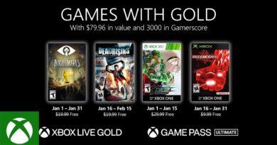 Os Games with Gold acima podem ser resgatados durante todo mês de janeiro. (Imagem: Divulgação)