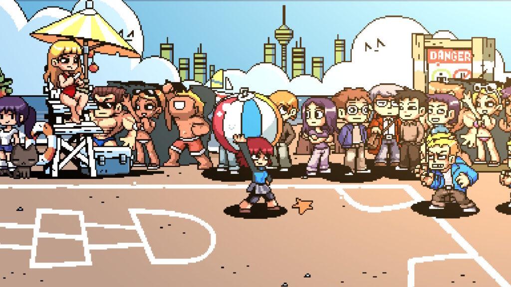 Além da campanha, o jogo tem quatro modos extras. Acima, Dodge Ball ou Queimada, em bom português! (Imagem: Reprodução/Switch)
