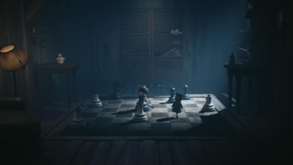 A solução para O Gambito da Rainha está escondida em um pôster próximo, mas a maioria das salas não entregam tão facilmente suas respostas. (Imagem: Reprodução/Switch)