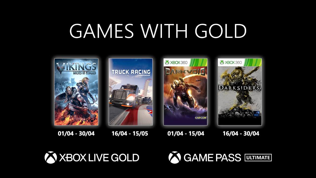 Jogos: Xbox revela Games with Gold para abril de 2021