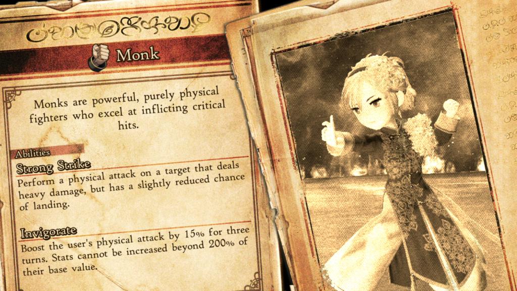 Assim que obter um novo asterisco, a descrição da classe vem em seguida. (Imagem: Reprodução/Nintendo Switch)