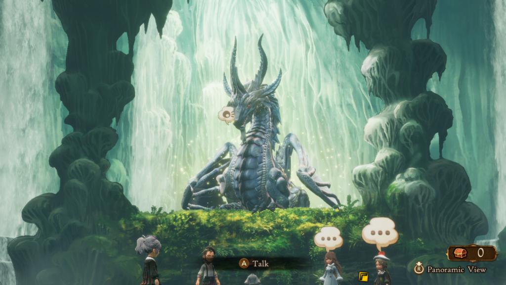 As criaturas e inimigos são extremamente detalhados e imersos em belos cenários. (Imagem: Reprodução/Nintendo Switch)