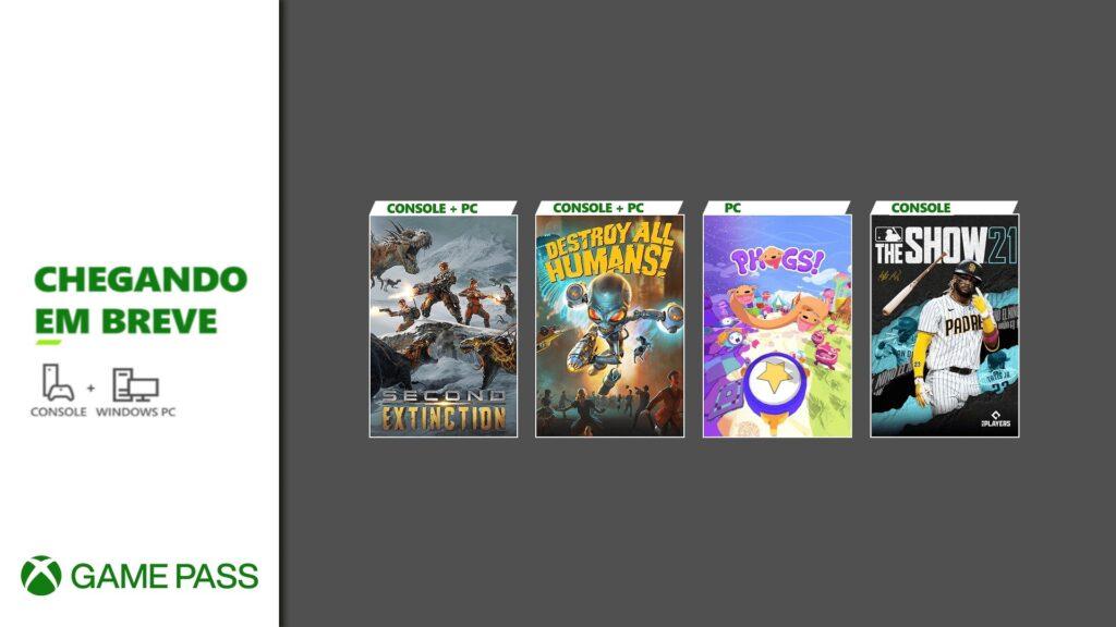 Segunda onda de abril inclui mais três jogos ao Xbox Game Pass e reafirma MLB The Show 21. (Imagem: Divulgação/Microsoft)