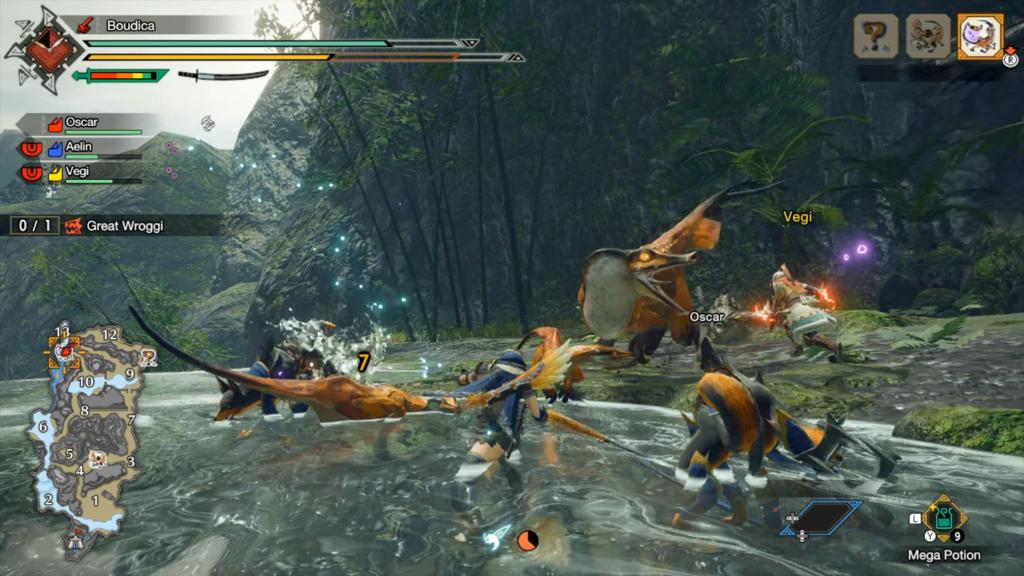 Jogar Monster Hunter Rise com amigos é sem igual! (Imagem: Reprodução/Nintendo Switch)