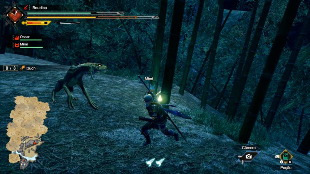 Vá à caça, limpe os monstros vencidos, volta à vila, faça armaduras e armas melhores. Repita. (Imagem: Reprodução/Nintendo Switch)