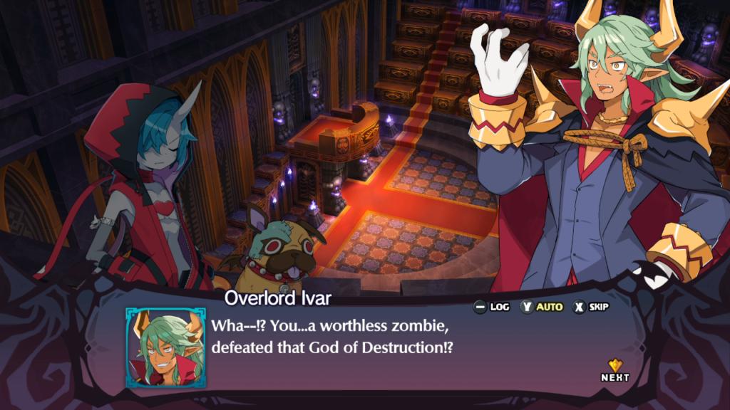 O humor parece juvenil a princípio, mas a narrativa é cativante e trata de vários temas. (Imagem: Reprodução/Nintendo Switch)