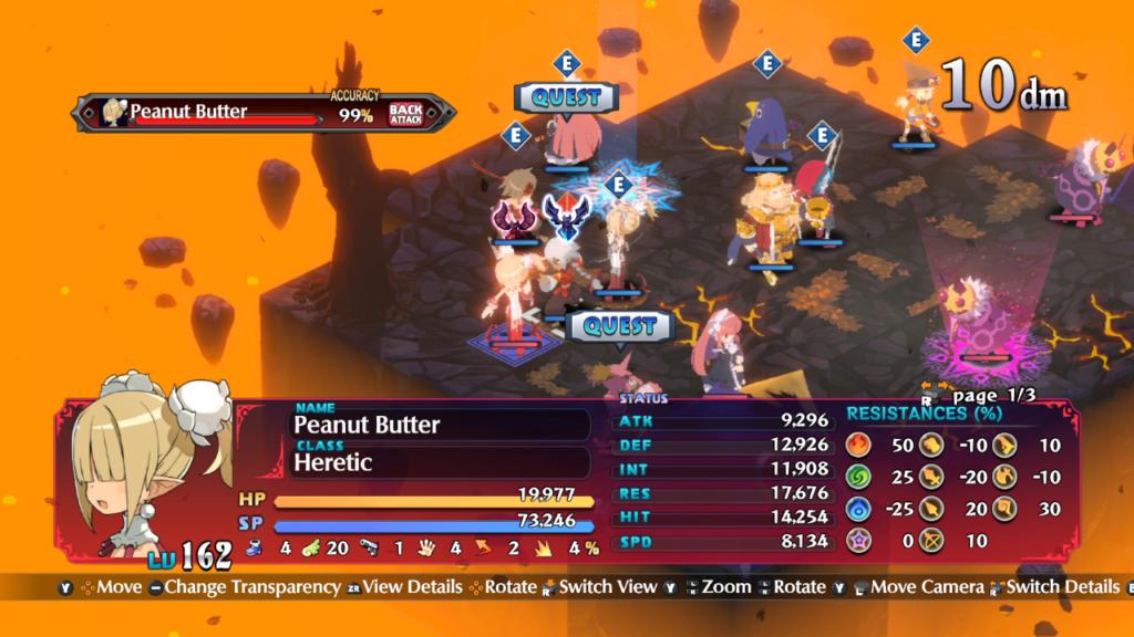 Disgaea 6: Defiance of Destiny é um RPG de combate tático. (Imagem: Reprodução/Nintendo Switch)