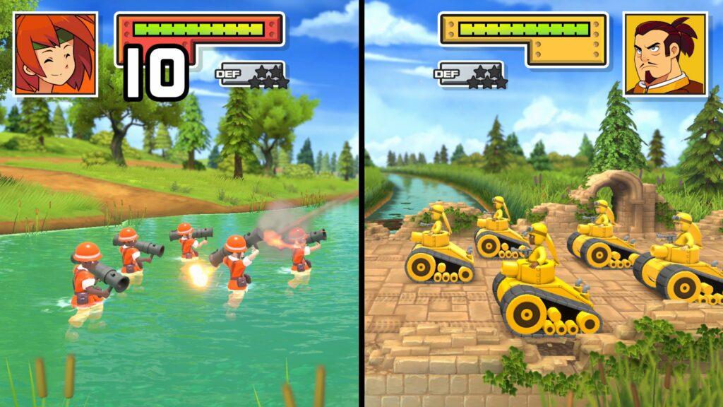 Pense bem no seu próximo movimento em Advance Wars 1+2: Re-Boot Camp. (Imagem: Divulgação/Nintendo)