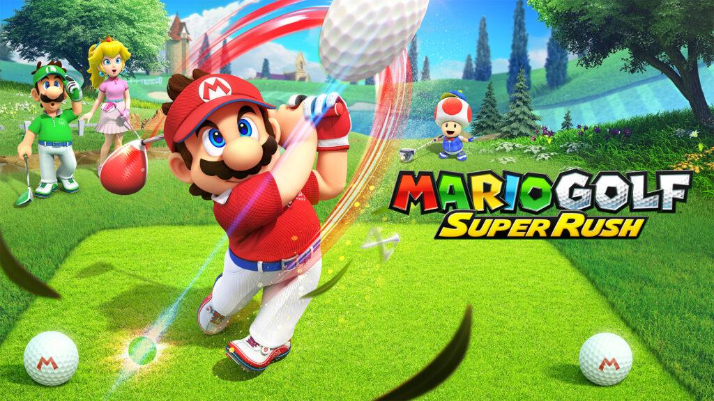 Switch MarioGolfSuperRush KeyArt Horizontal Nintendo