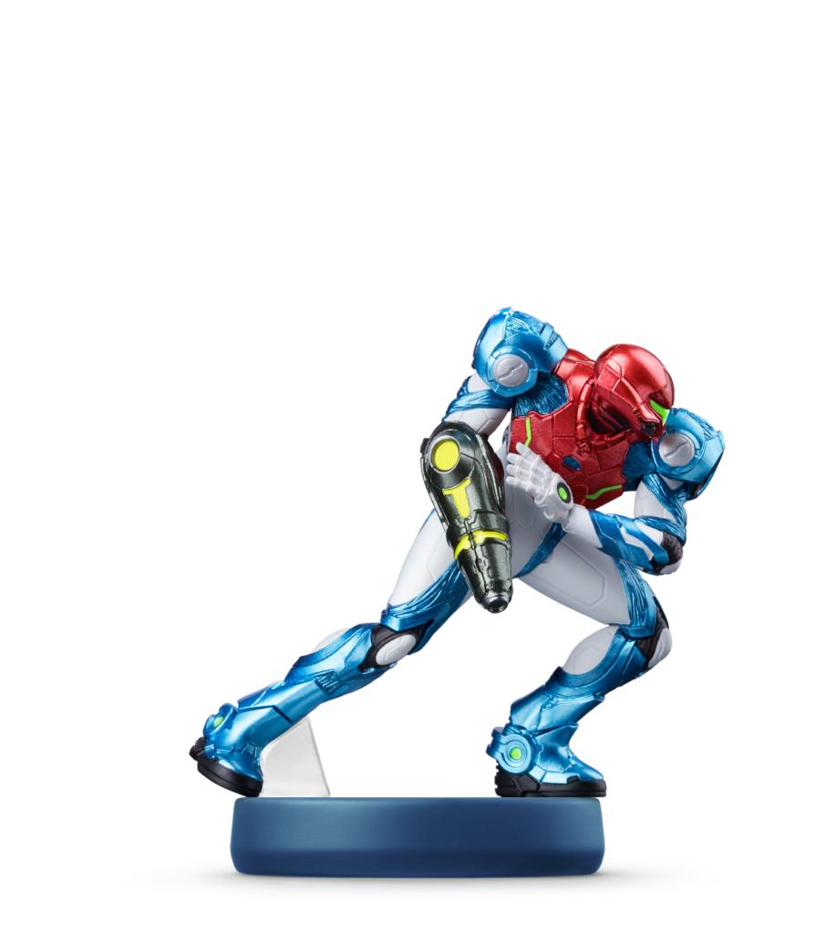 amiibo com nova armadura de Samus estará no lançamento. (Imagem: Divulgação/Nintendo)