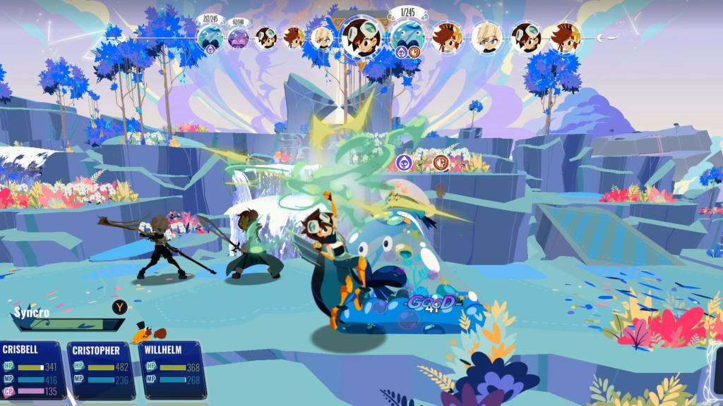 Batalhas são o ponto alto de Cris Tales, mantendo desafio e estratégia constantes. (Imagem: Reprodução/Nintendo Switch)