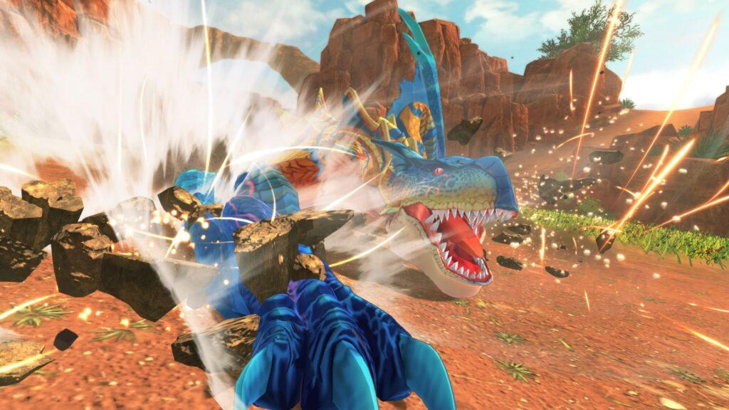 As animações e as cores vibrantes são pontos fortes de Wings of Ruin. (Imagem: Divulgação/Capcom)