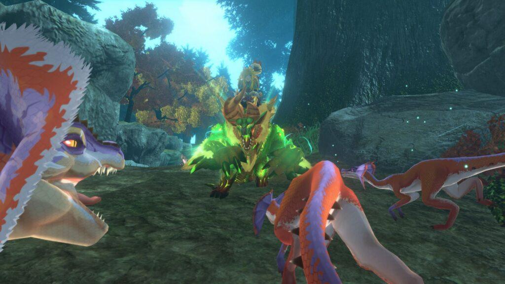 Monstros se tornaram agressivos com o sumiço do Ratha Guardião. (Imagem: Divulgação/Capcom)