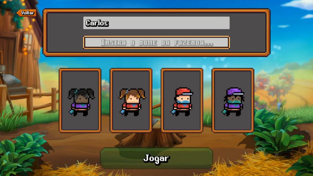 Monster Harvest oferece poucas opções de personalização. (Imagem: Reprodução/Nintendo Switch)