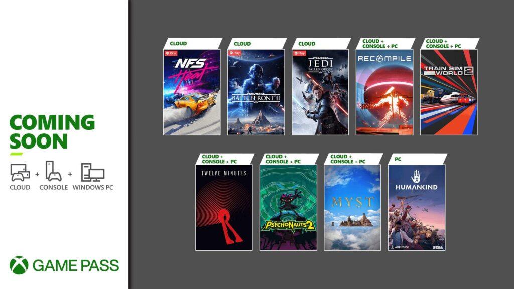Xbox Game Pass revela a segunda onda de títulos para agosto de 2021. (Imagem: Divulgação/Microsoft)