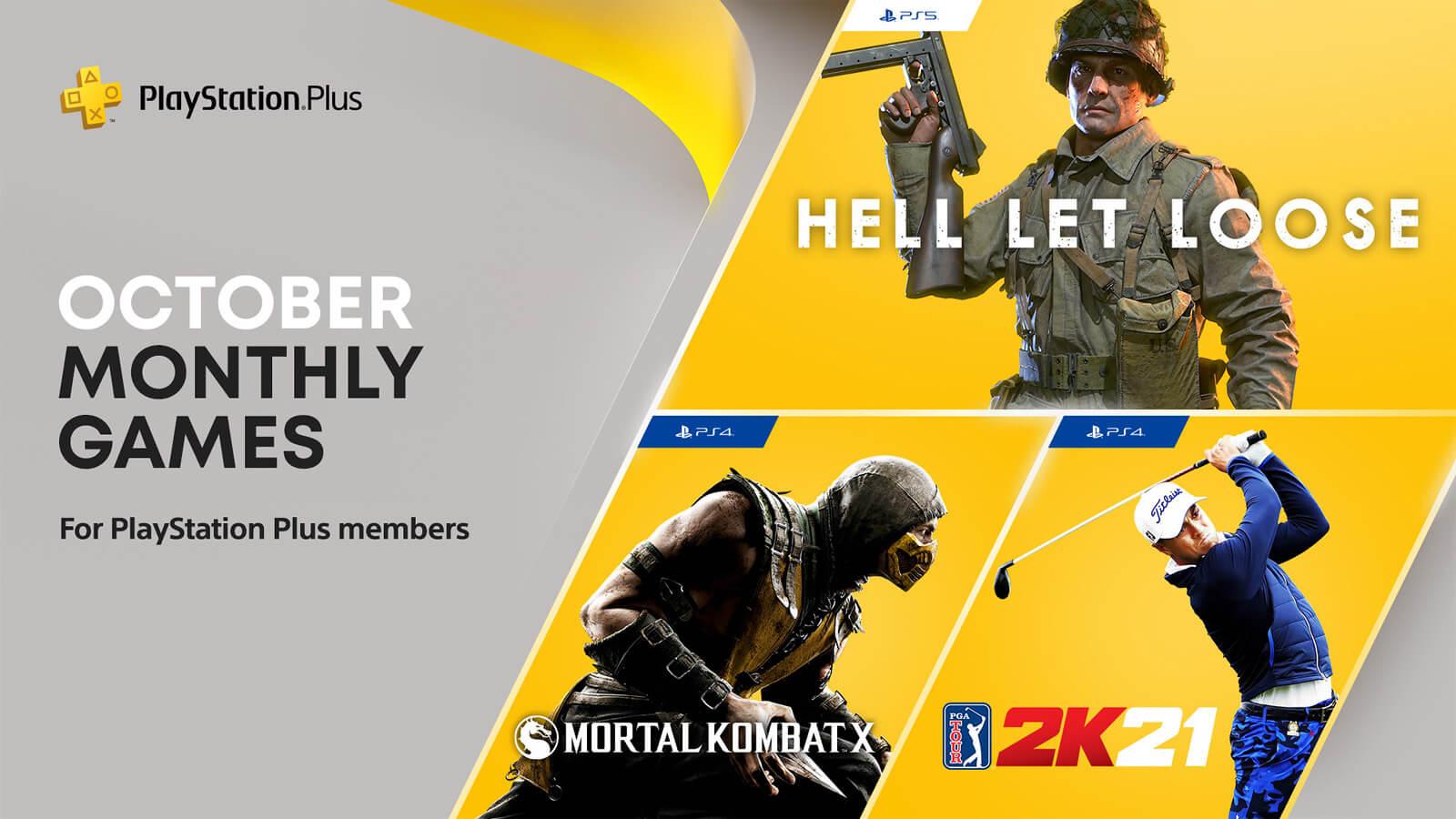 Jogos: PS Plus de outubro terá Hell Let Loose, PGA Tour 2K21 e Mortal Kombat X