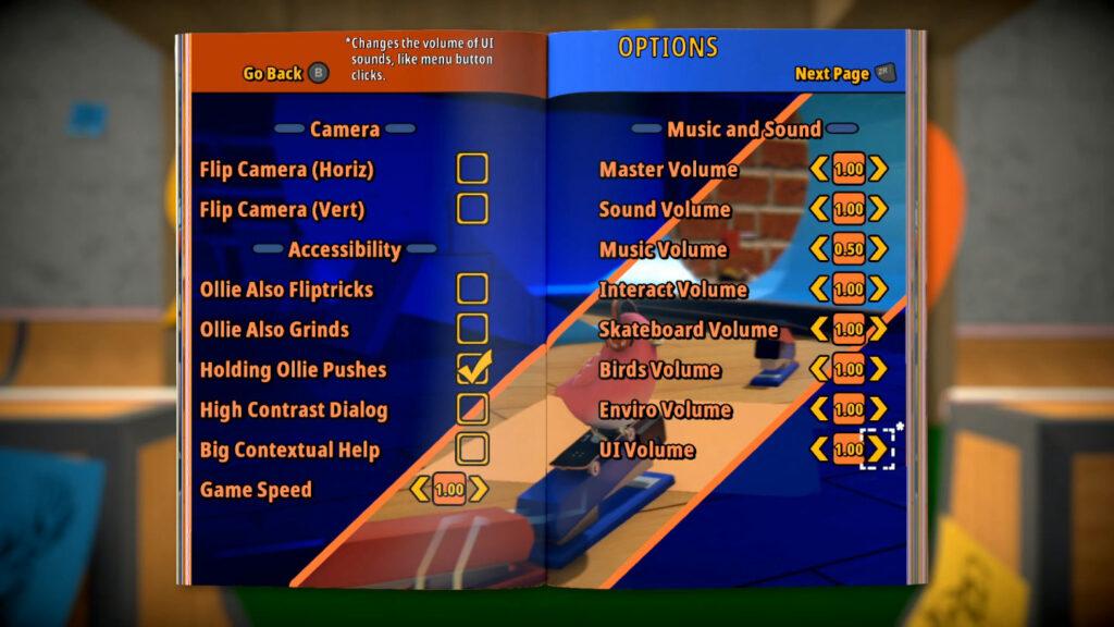 Apesar dos problemas, os desenvolvedores incluíram várias opções de acessibilidade e de configuração. (Imagem: Reprodução/Switch)