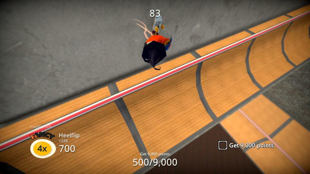 """Carregue o marcador """"FANCY"""" para ter mais velocidade e um multiplicador de pontos. (Imagem: Reprodução/Switch)"""