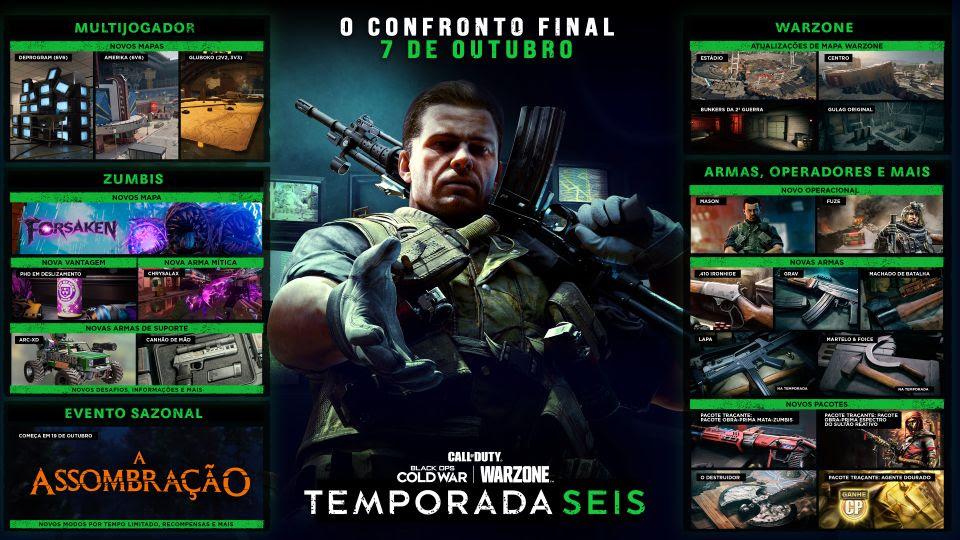 Jogos: Call of Duty Cold War e Warzone anunciam as novidades da Temporada 6