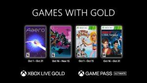 Xbox revela Games With Gold para outubro de 2021