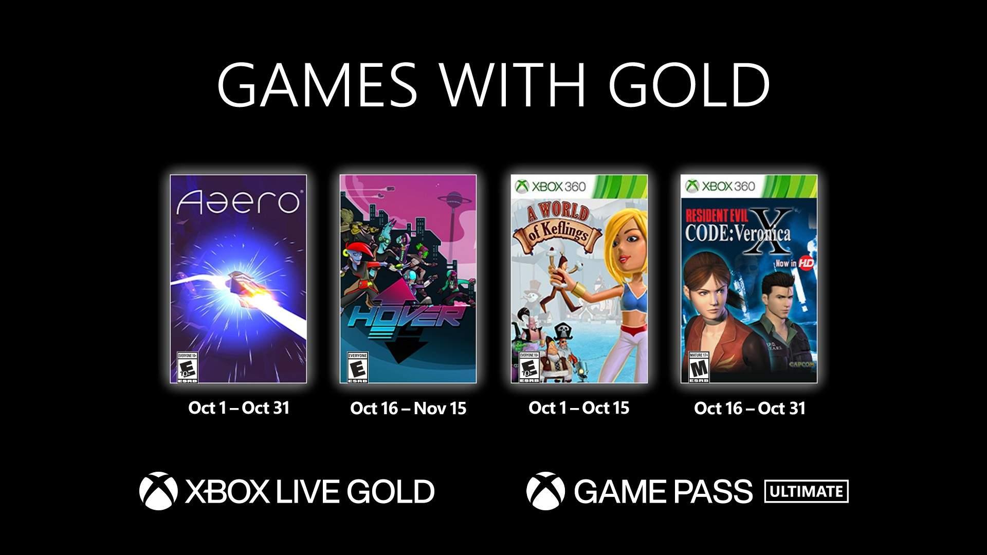 Jogos: Xbox revela Games With Gold para outubro de 2021
